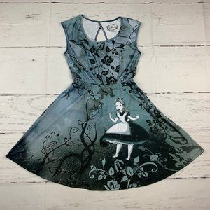 Disney Alice in Wonderland fit & flare dress I7